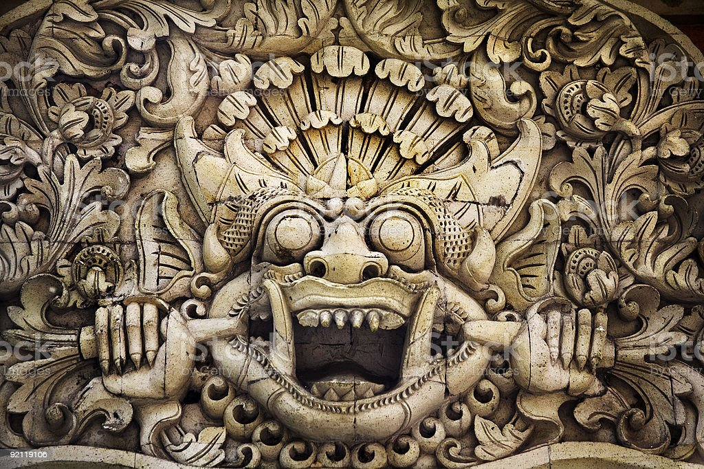 bali carving royalty-free stock photo