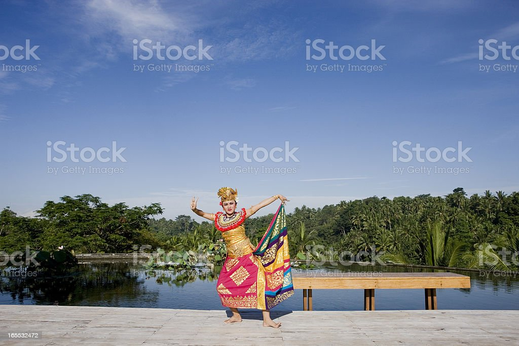Bali dancer royalty-free stock photo