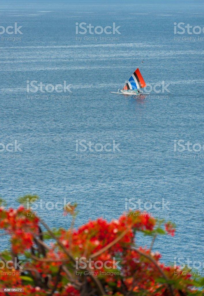 Bali Fishing Boat stock photo