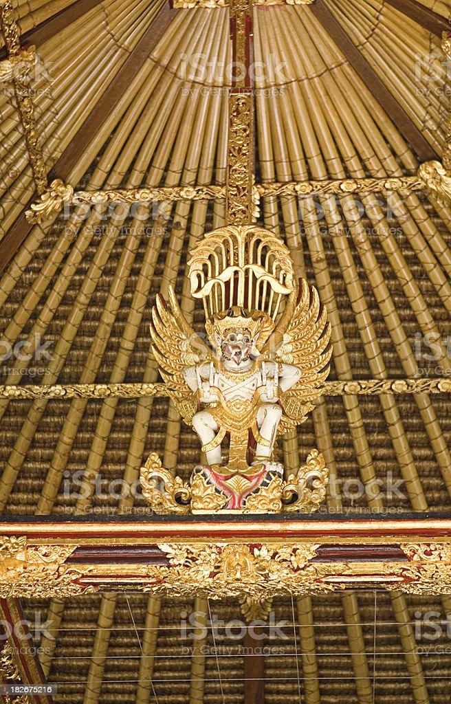 bali indonesia golden dragon statue royalty-free stock photo