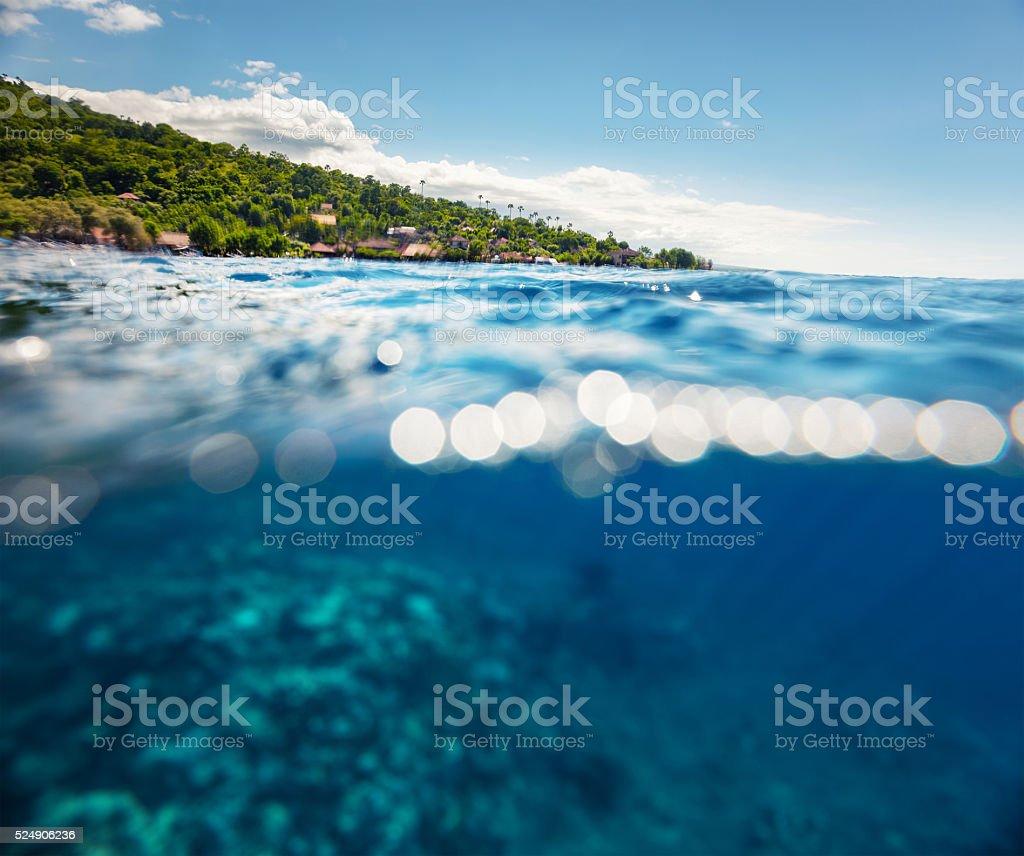 Bali island underwater stock photo