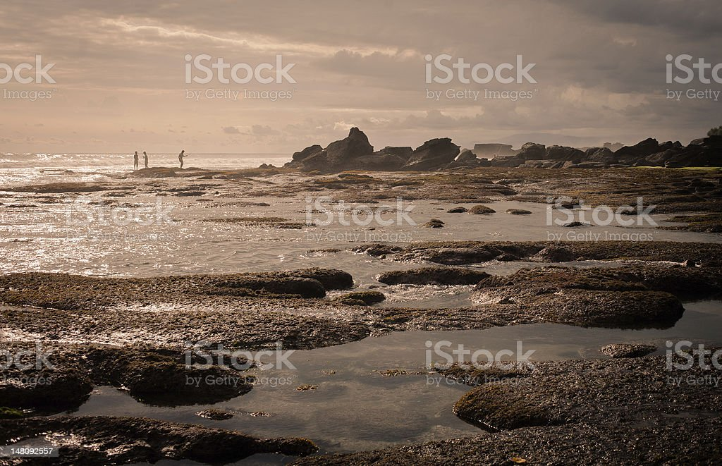 Bali seashore stock photo