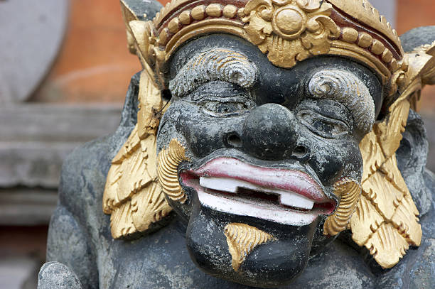 bali statue - demoniac stock pictures, royalty-free photos & images
