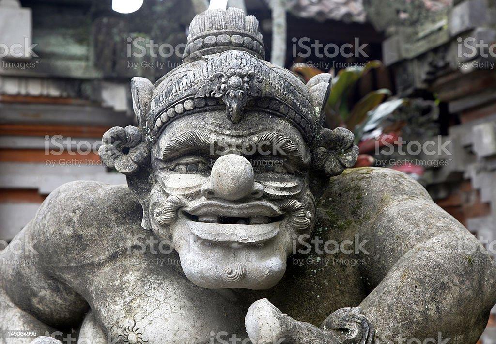 Bali Stone Statue royalty-free stock photo