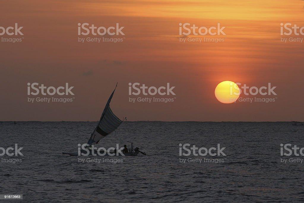 Bali Sunrise stock photo