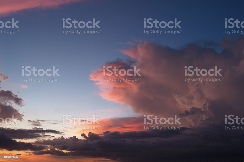 Bali sunset royalty-free stock photo