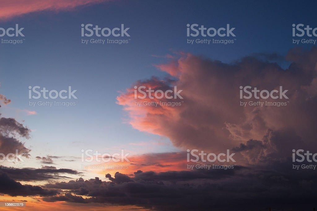 Bali sunset stock photo