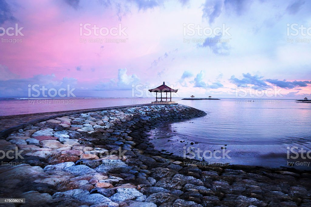 Bali Sunset stock photo