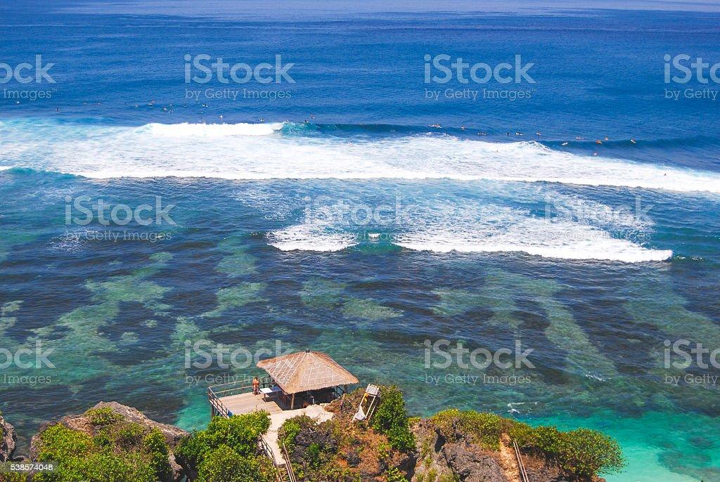 Bali surfing stock photo