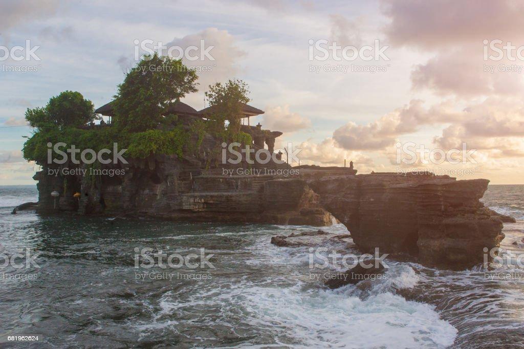 Bali Tanah Lot Temple Sunset Indonesia royalty-free stock photo