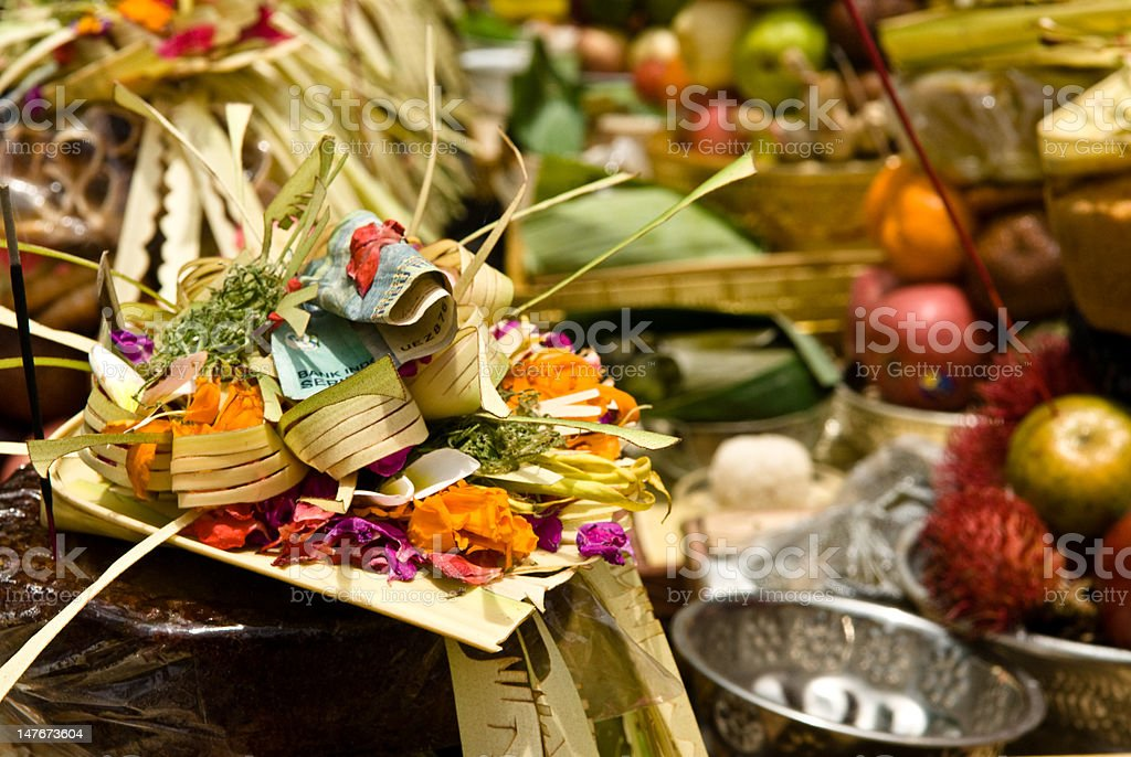 Bali Traditional Ceremony royalty-free stock photo