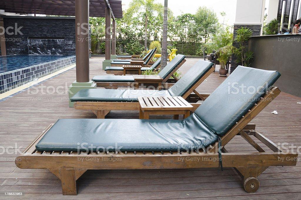 Bali Villa with swimming pool royalty-free stock photo