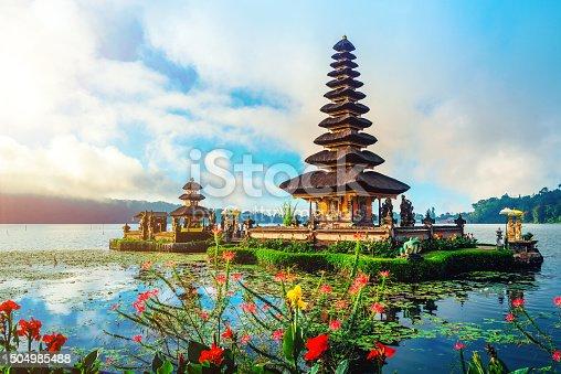 Pura Ulun Danu Temple on lake Brataan