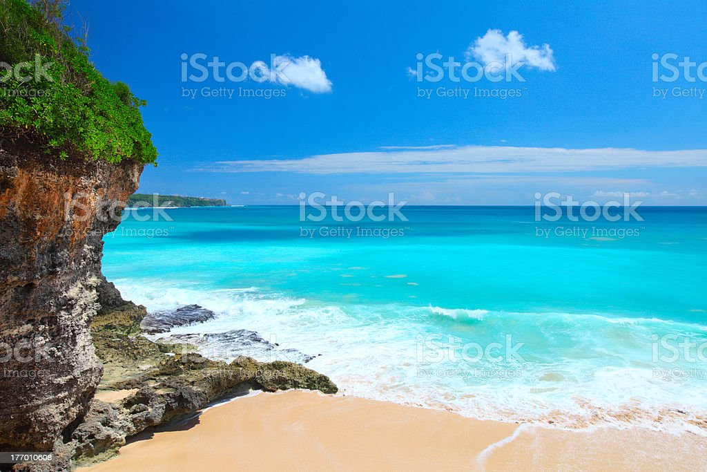 Balines beach stock photo