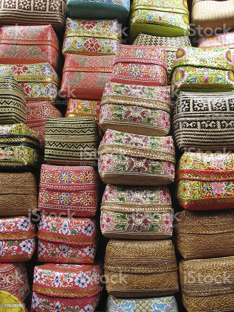 Balinese Baskets 1 royalty-free stock photo
