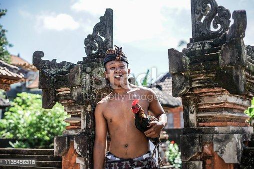 Balinese Boy with Chicken