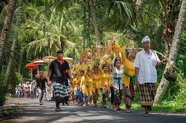 Balinese Ceremonial Procession