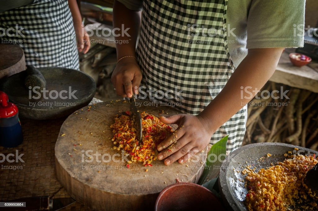 Balinese Cooking Class stock photo