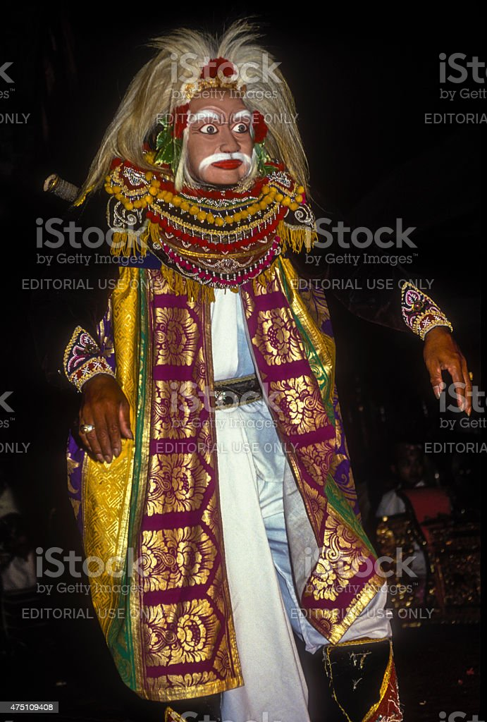 Balinese Dancer Performing Ramayana stock photo