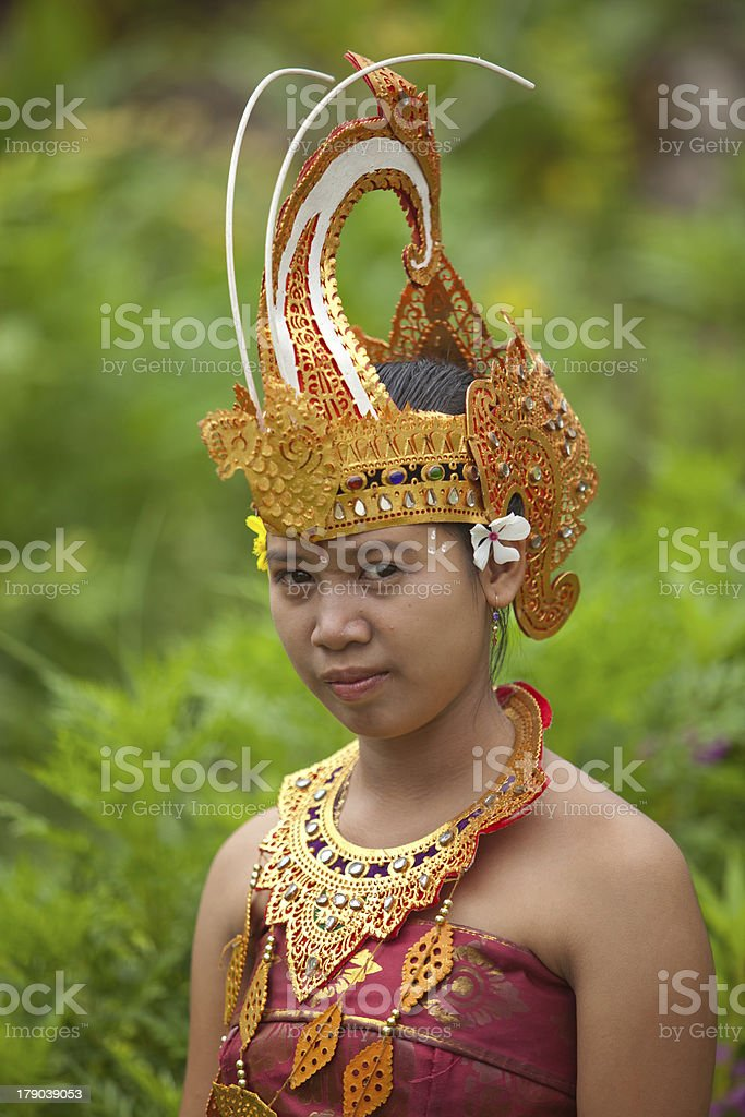 Balinese dancer royalty-free stock photo