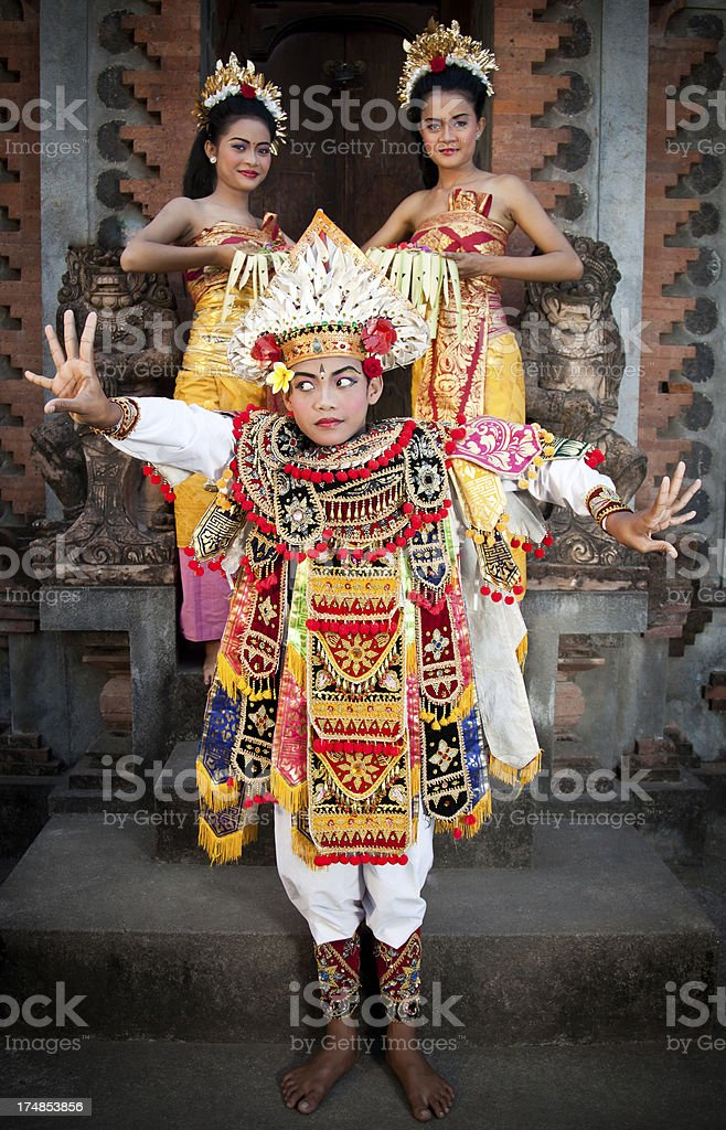 Balinese Dancers royalty-free stock photo