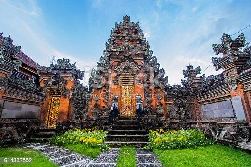 Balinese door facade of Hindu temple.