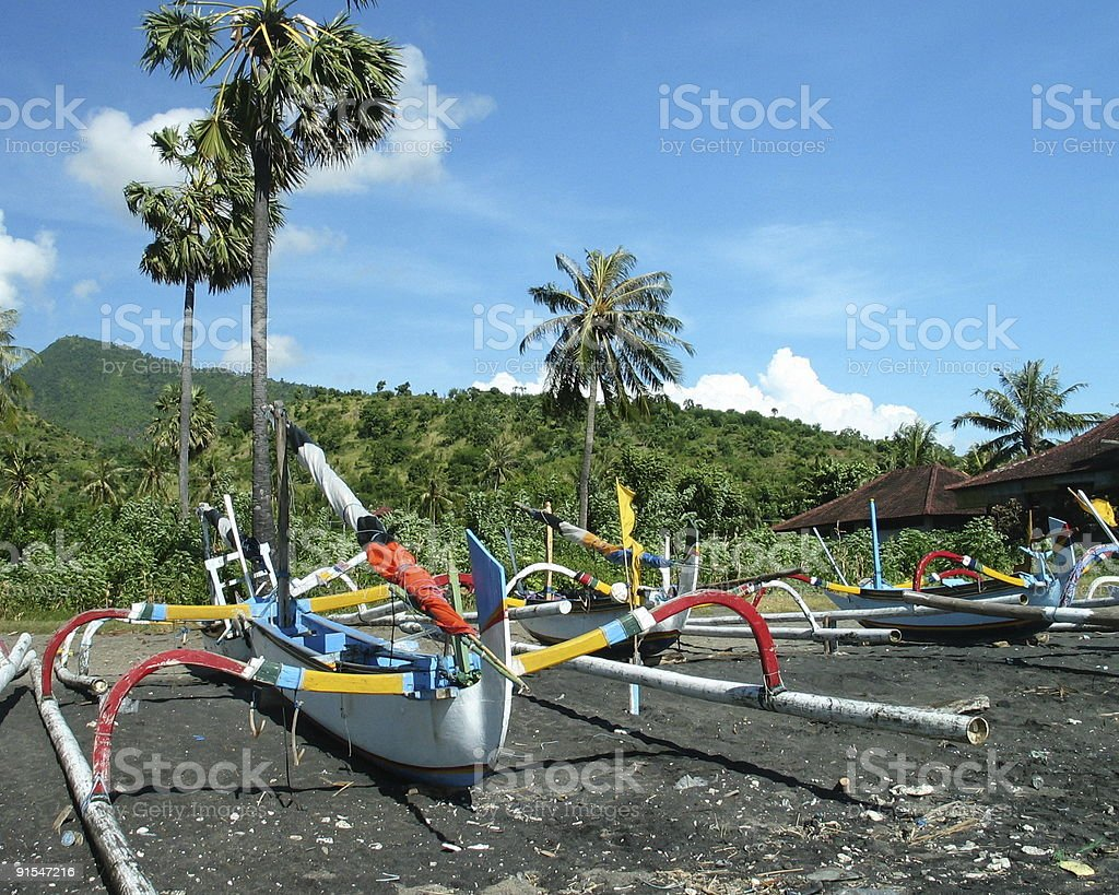 Balinese Fishing Boat royalty-free stock photo