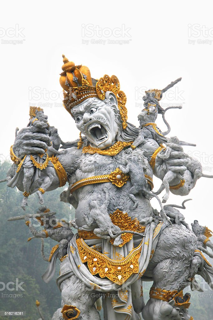 Balinese god statue stock photo