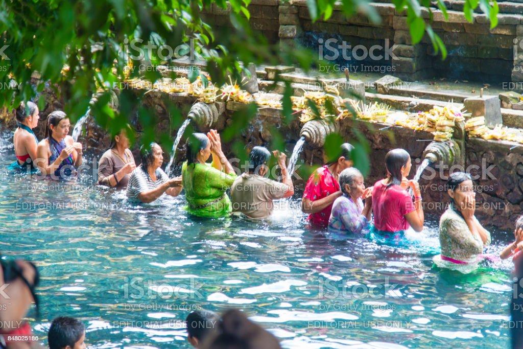Balinese Hindu Temple Tirta Empul, Bali, Indonesia stock photo