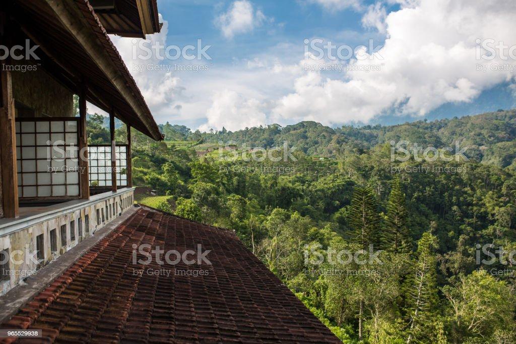 Balinese landscape stock photo