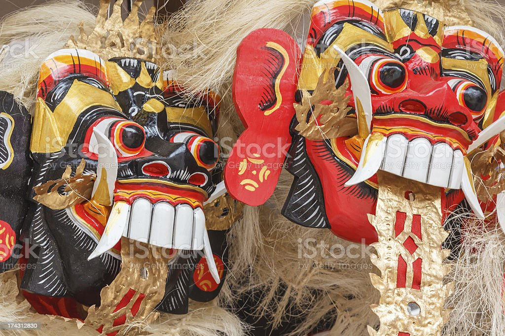 balinese mask in a shop royalty-free stock photo