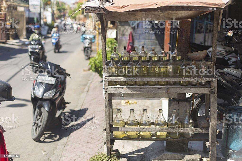 Balinese Petrol Station royalty-free stock photo