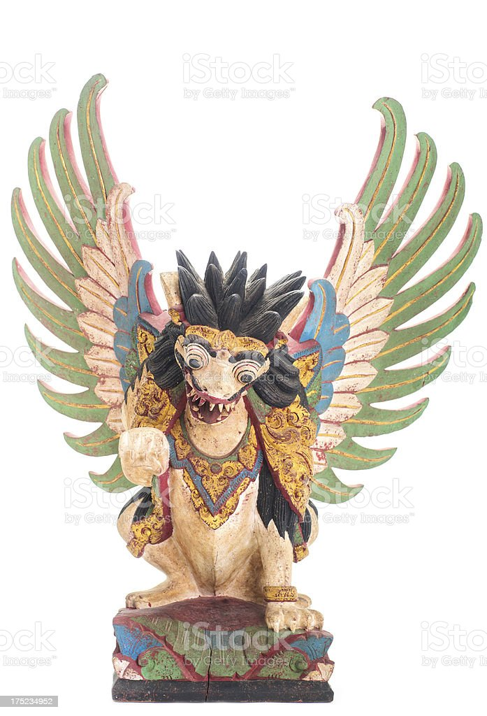 Balinese Statue of Lion/Dragon royalty-free stock photo