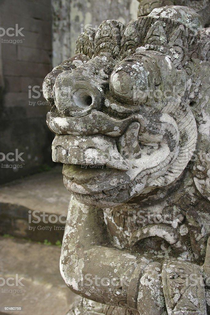 Balinese stone carving close up royalty-free stock photo