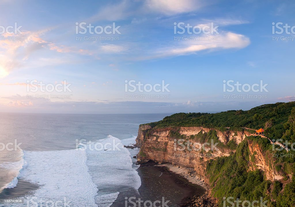 Balinese sunset royalty-free stock photo