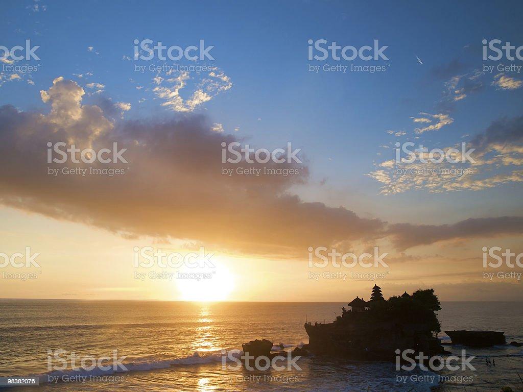 Balinese tramonto foto stock royalty-free