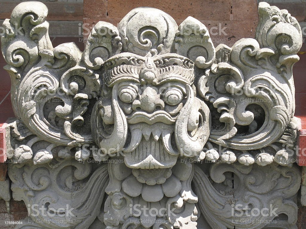 Balinese Temple Carving 2 royalty-free stock photo