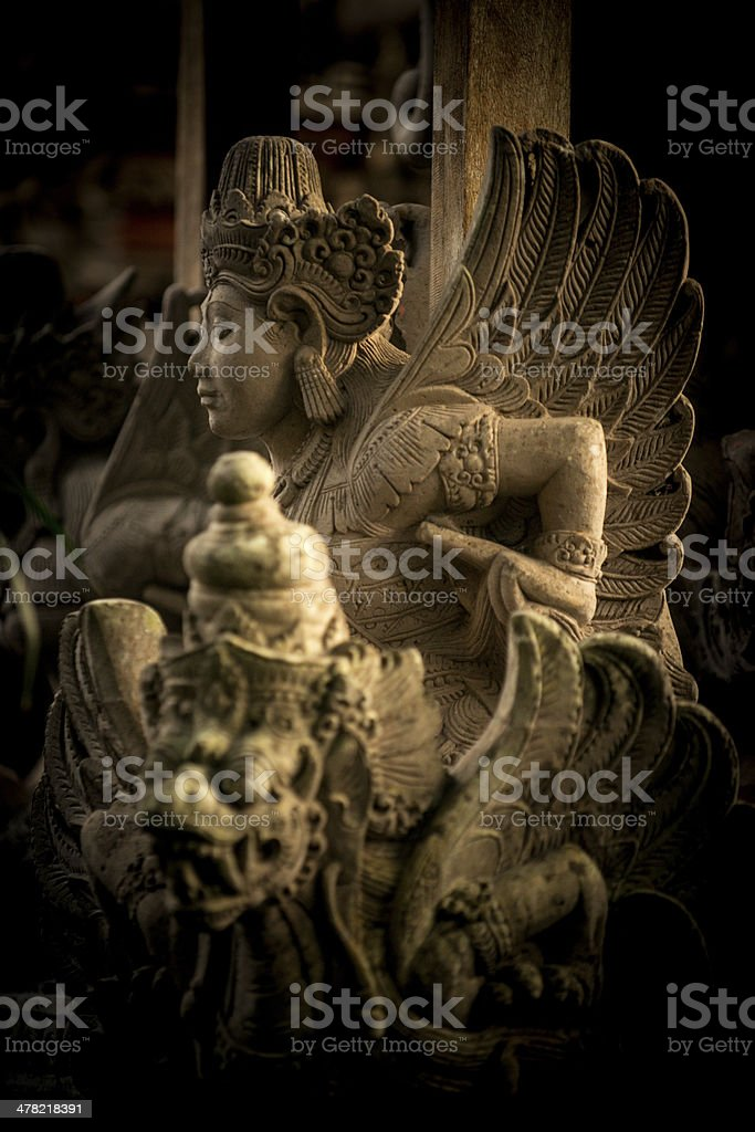 Balinese temple figure royalty-free stock photo