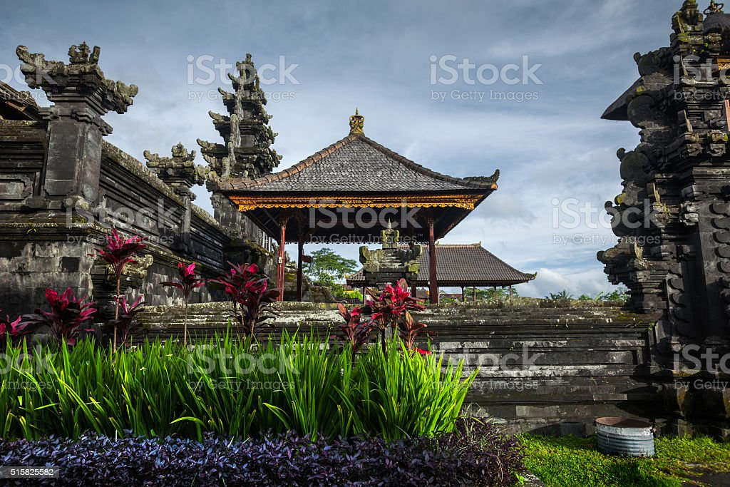 Balinese temple stock photo