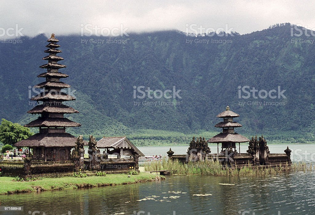 Balinese Water Temple royalty-free stock photo