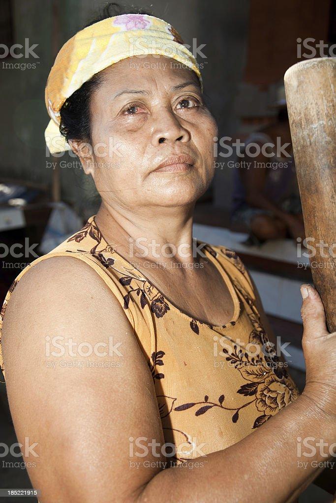 Balinese Woman royalty-free stock photo