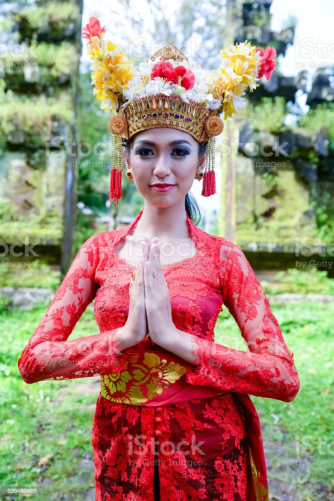 Balinese Women In Traditional Dress Stock Photo Download