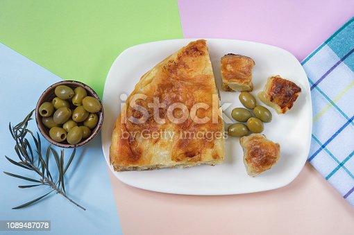 istock Balkan cuisine. Burek - pie with filling - popular national dish 1089487078