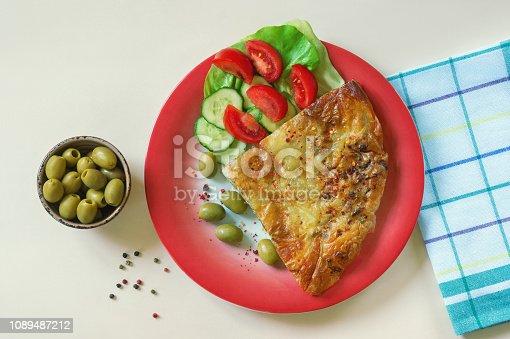 istock Balkan cuisine. Burek - pie with filling - popular national dish 1089487212