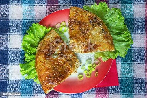 istock Balkan cuisine. Burek - pie with filling - popular national dish 1089487474