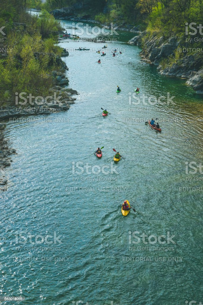 Balkan Rivers Tour - Soca River, Slovenia foto de stock royalty-free