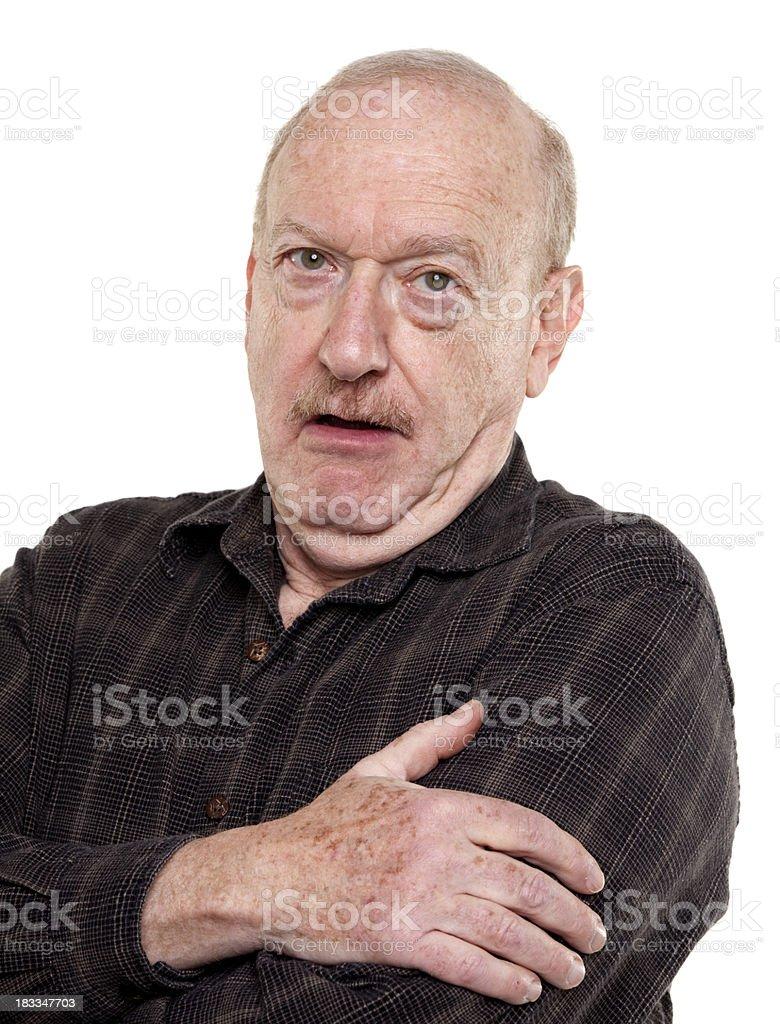 balking senior man royalty-free stock photo