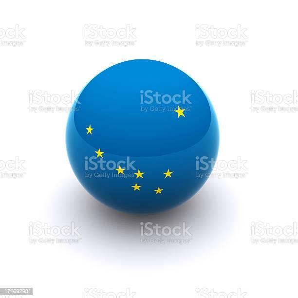 3d Ball Alaska Flag Stock Photo - Download Image Now