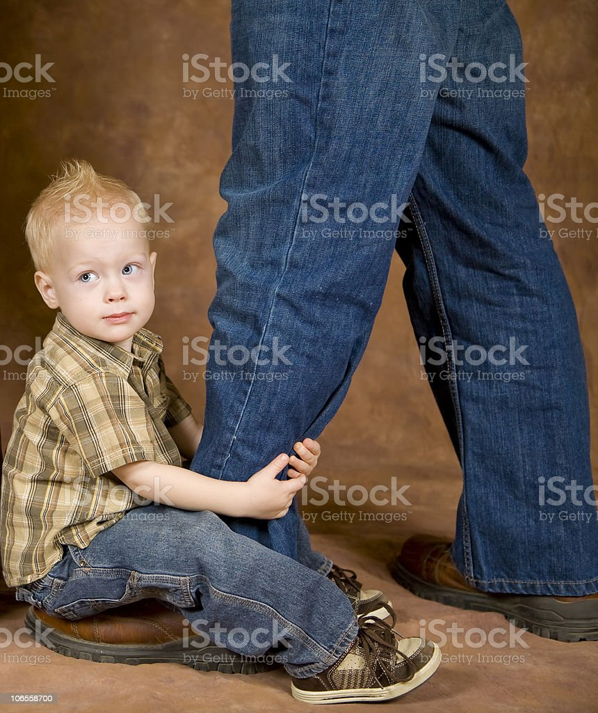 Ball and Chain Child royalty-free stock photo