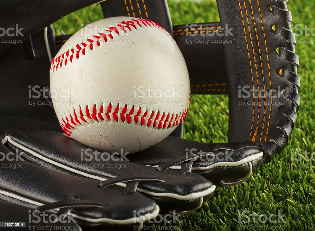 Ball and glove royalty-free stock photo